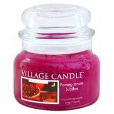 Village Candle Świeca w szklanym słoju Świeca wiejska, Granat, 312 g