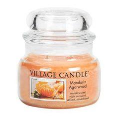 Village Candle Świeca w szklanym słoju Świeca wiejska, Drzewo mandarynkowe i agarowe, 312 g