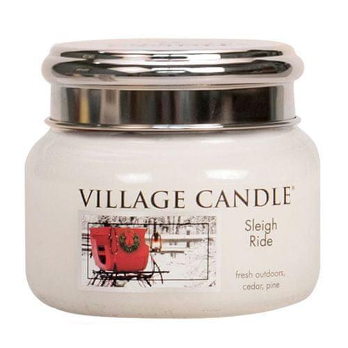 Village Candle Świeca w szklanym słoju Świeca wiejska, Zimowa jazda, 312 g