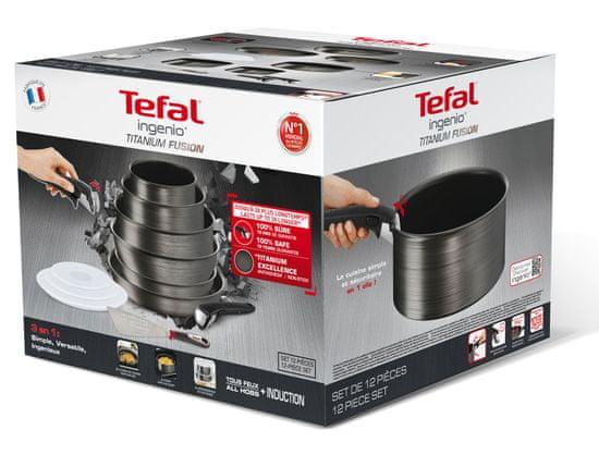 Tefal Sada nádobí 12 ks Ingenio Titanium Fusion L6839002