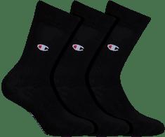 Champion pánské ponožky Y08ST CITY CREW SOCKS LEGACY 3 ks černá 39 - 42