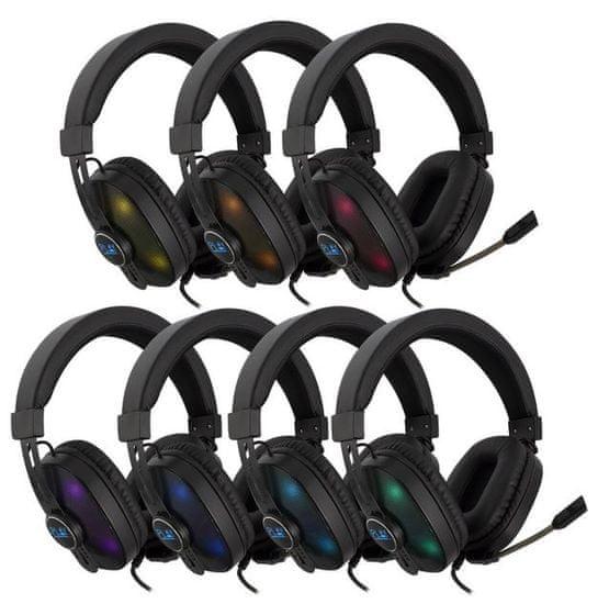 Ewent PL3321 Play Gaming slušalke, RGB, z mikrofonom