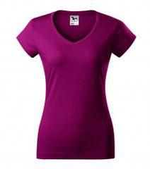 Malfini Dámske tričko s V výstrihom Malfini Fit V-Neck 162 fuchsiová M