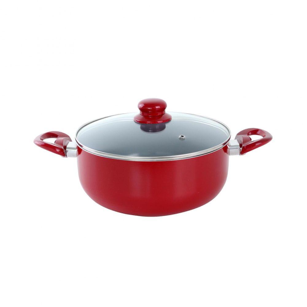 Toro Kastrol s keramickým povrchem 20x9 cm červená