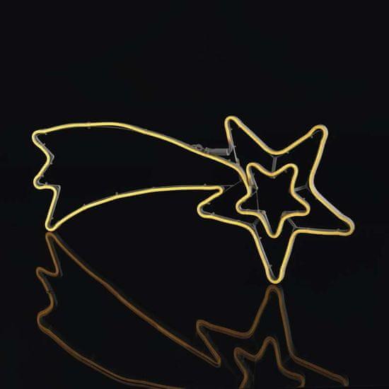 EMOS LED neonska zvijezda padalica, vanjska, topla bijela, timer