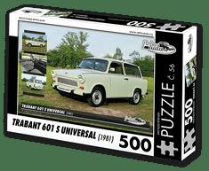 RETRO-AUTA© Puzzle č. 56 - TRABANT 601 S UNIVERSAL (1981) 500 dílků