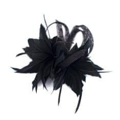 Art of Polo Fascinátor s peřím černý