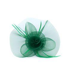 Art of Polo Fascinátor se zelenou květinou