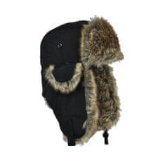 Art of Polo Módní kožíšková ušanka černá
