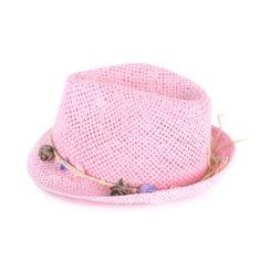 Art of Polo Letní klobouk s kytičkami světle růžový