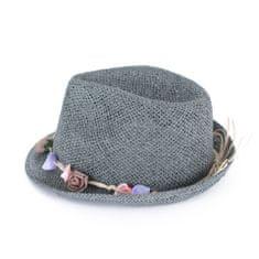 Art of Polo Letní klobouk s kytičkami šedý