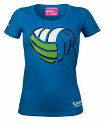 OZS navijaška ženska majica, L, modra