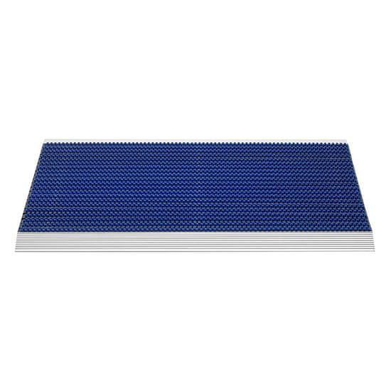 FLOMA Modrá venkovní čistící kartáčová rohož Outline - 50 x 80 x 2,2 cm