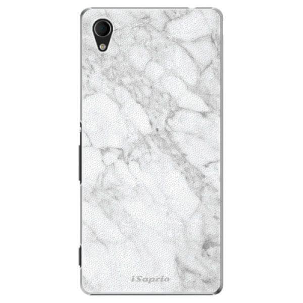 iSaprio Plastový kryt - SilverMarble 14 pro Sony Xperia M4 Aqua