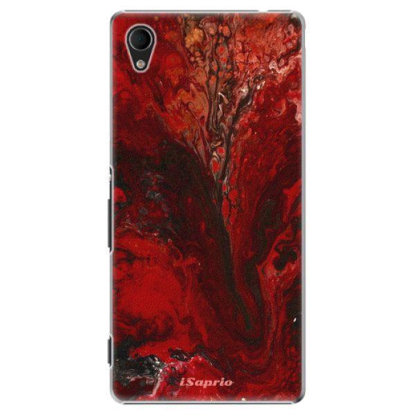 iSaprio Plastový kryt - RedMarble 17 pro Sony Xperia M4 Aqua