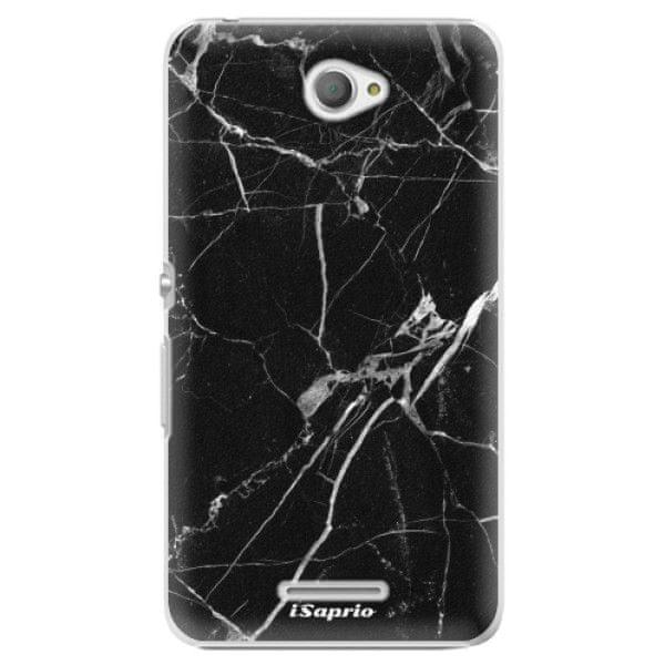 iSaprio Plastový kryt - Black Marble 18 pro Sony Xperia E4