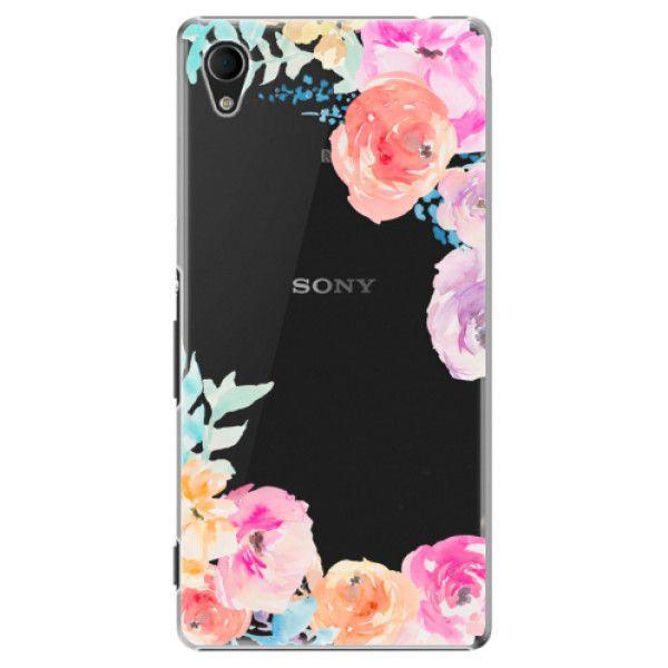 iSaprio Plastový kryt - Flower Brush pro Sony Xperia M4 Aqua