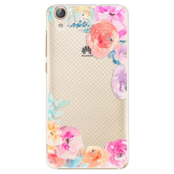 iSaprio Plastový kryt - Flower Brush pro Huawei Y6 II