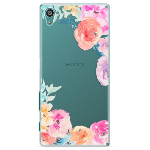 iSaprio Plastový kryt - Flower Brush pro Sony Xperia Z5