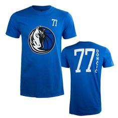 Dallas Mavericks majica Standing Tall, Luka Dončić 77, S, modra
