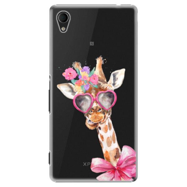 iSaprio Plastový kryt - Lady Giraffe pro Sony Xperia M4 Aqua
