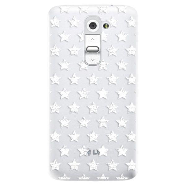 iSaprio Plastový kryt - Stars Pattern - white pro LG G2