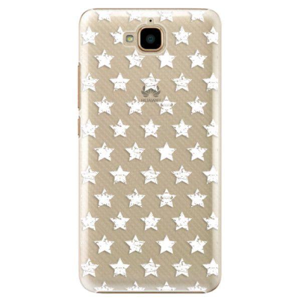 iSaprio Plastový kryt - Stars Pattern - white pro Huawei Y6 Pro