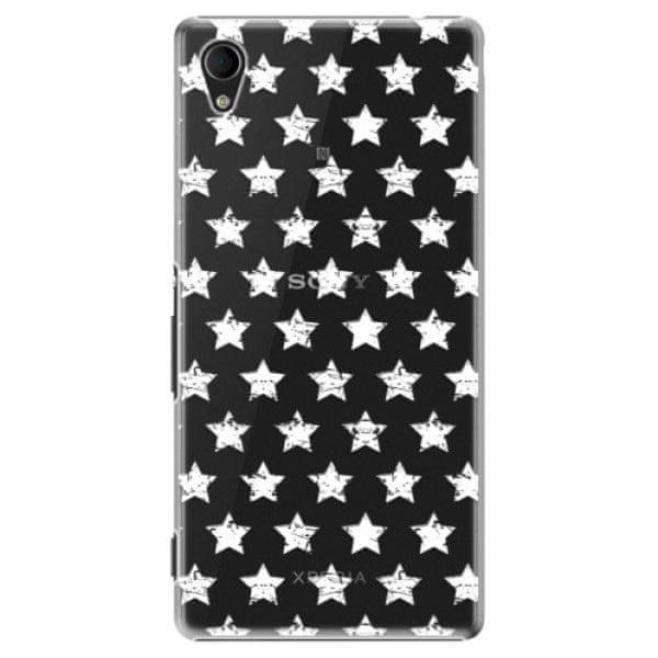 iSaprio Plastový kryt - Stars Pattern - white pro Sony Xperia M4 Aqua