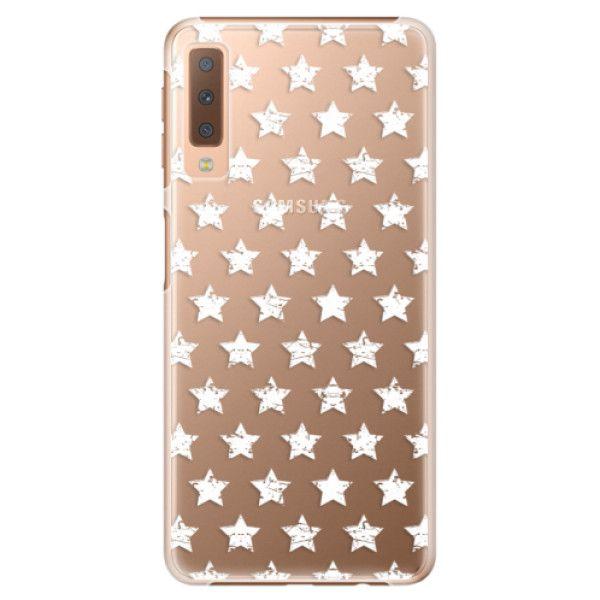 iSaprio Plastový kryt - Stars Pattern - white pro Samsung Galaxy A7 (2018)