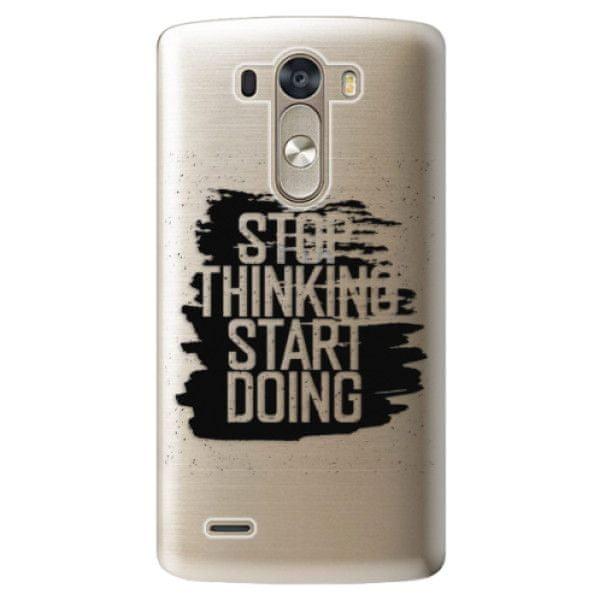 iSaprio Plastový kryt - Start Doing - black pro LG G3