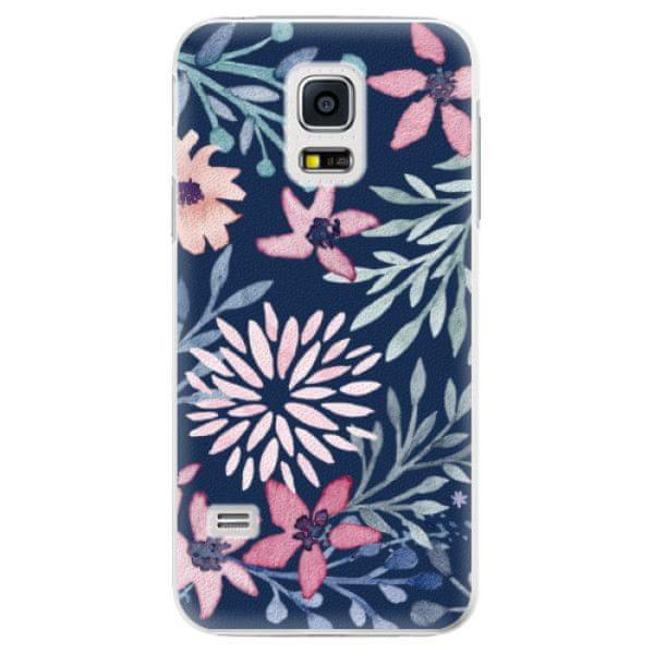 iSaprio Plastový kryt - Leaves on Blue pro Samsung Galaxy S5 Mini