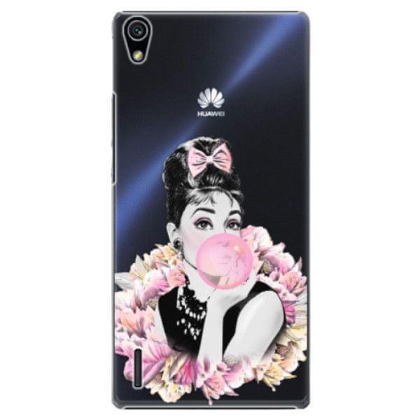 iSaprio Plastový kryt - Pink Bubble pro Huawei Ascend P7