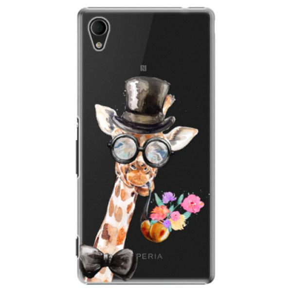 iSaprio Plastový kryt - Sir Giraffe pro Sony Xperia M4 Aqua