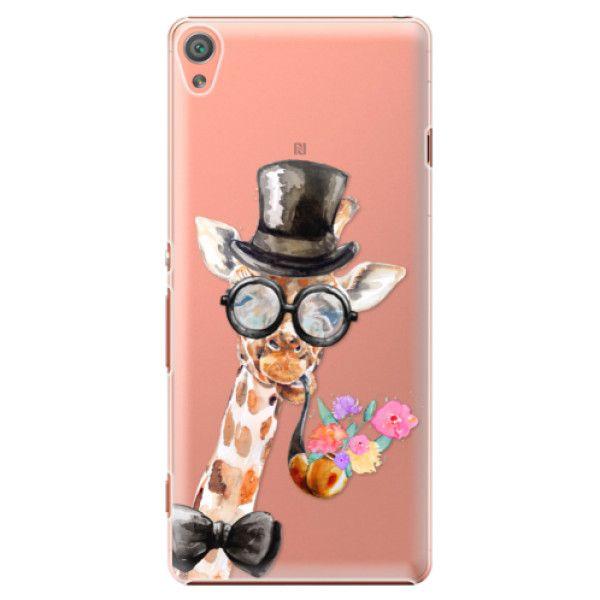 iSaprio Plastový kryt - Sir Giraffe pro Sony Xperia XA