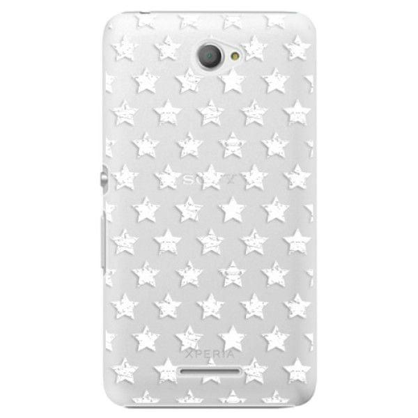 iSaprio Plastový kryt - Stars Pattern - white pro Sony Xperia E4