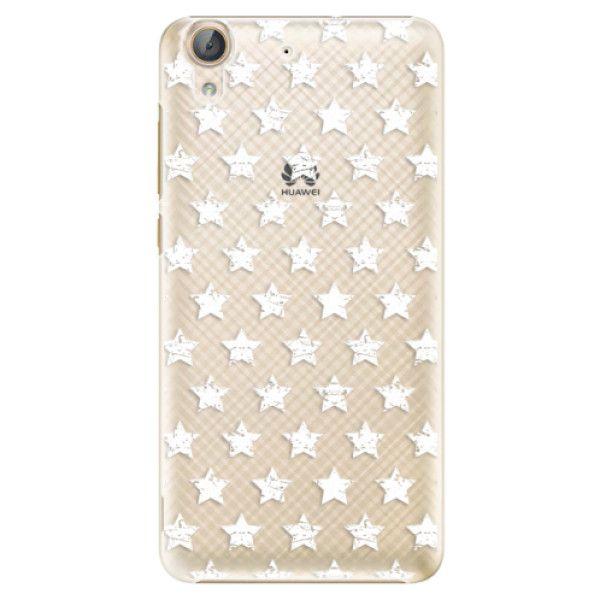 iSaprio Plastový kryt - Stars Pattern - white pro Huawei Y6 II