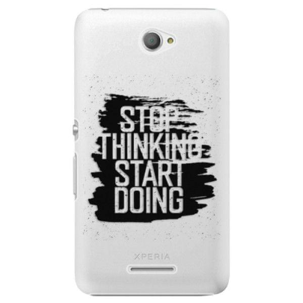 iSaprio Plastový kryt - Start Doing - black pro Sony Xperia E4
