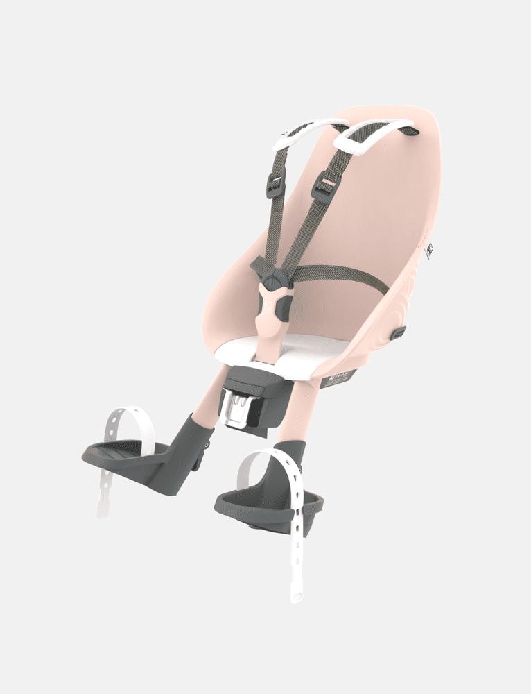 Urban Iki Přední sedačka na kolo - bílá/růžová