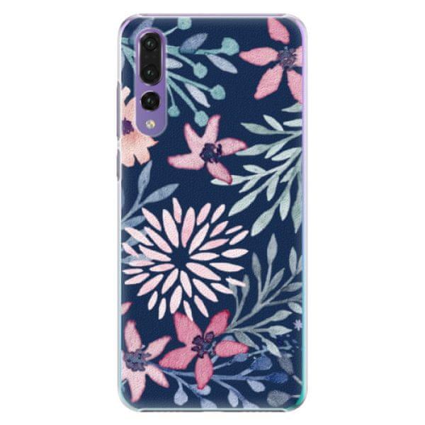 iSaprio Plastový kryt - Leaves on Blue pro Huawei P20 Pro