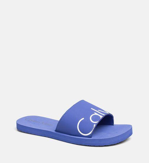 Calvin Klein Pantofle KW0KW00398-038 modrá - Calvin Klein