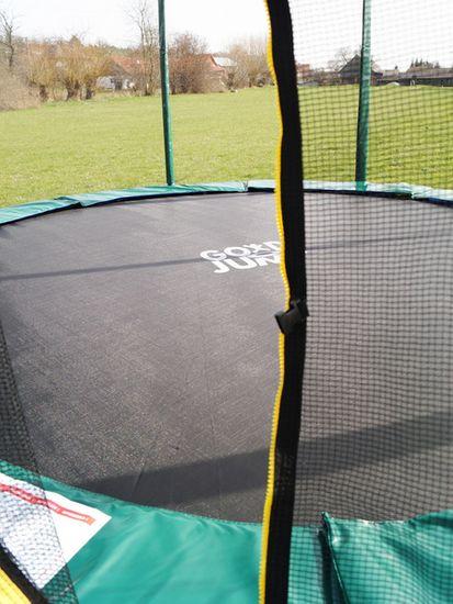 Goodjump GoodJump 4UPVC zelená trampolína 366 cm s ochrannou sítí + žebřík + krycí plachta