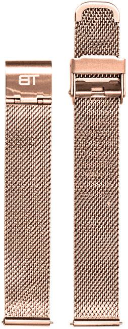 Bentime Kovový mesh s easy clickem - růžově zlatý (Šířka 16 mm)
