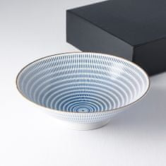 MIJ Velká mísa s modrými linkami 25 cm 1200 ml