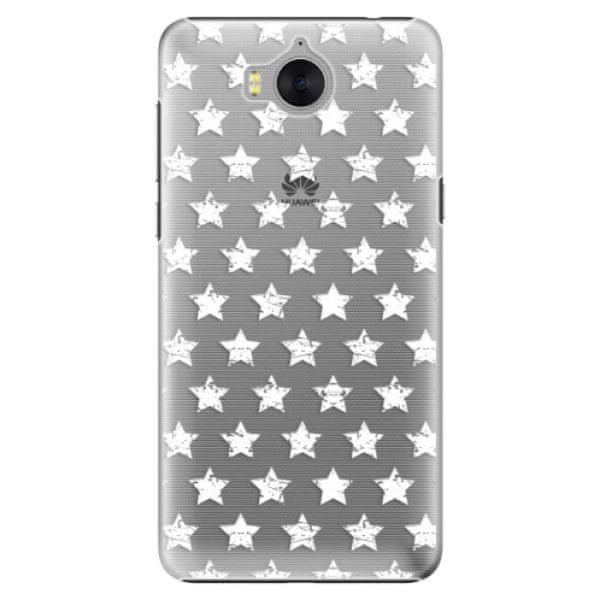 iSaprio Plastový kryt - Stars Pattern - white pro Huawei Y5 2017/Huawei Y6 2017