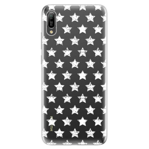 iSaprio Silikonové pouzdro - Stars Pattern - white pro Huawei Y6 2019