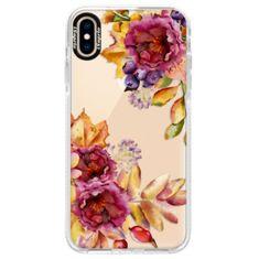 iSaprio Silikonové pouzdro s bumperem - Fall Flowers pro Apple iPhone Xs Max