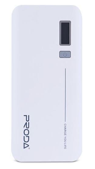 REMAX PowerBank Proda 20000 mAh, LED display, bílá barva, EXCLUSIVE, AA-1062