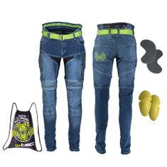 W-TEC Pánské moto jeansy Grandus - barva modrá, velikost 36/36