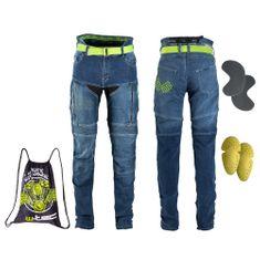 W-TEC Dámské moto jeansy Ekscita - barva modrá, velikost 40