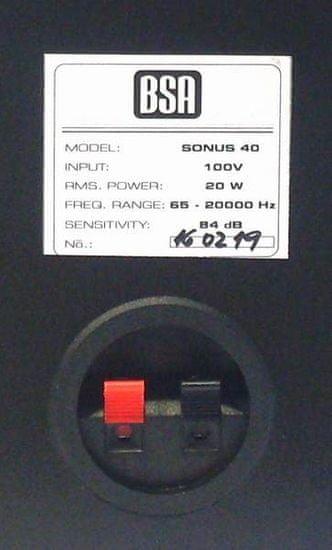 BSA SONUS 40 - černá